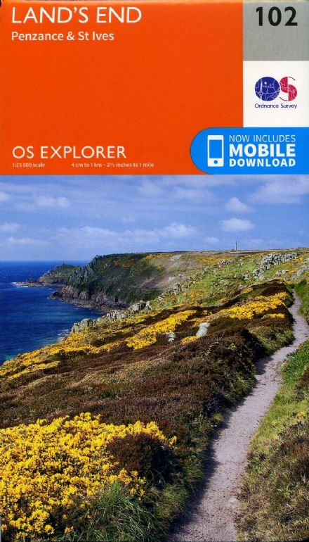 OS Explorer 102 - Land's End Penzance & St Ives